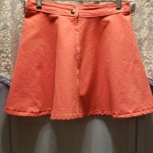 AMERICAN APPAREL DENIM CIRCLE MINI SKIRT SZ S